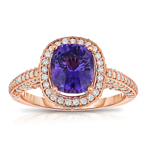 Violet Rose Sapphire Ring
