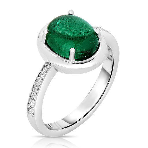 Emerald Color Flash Ring