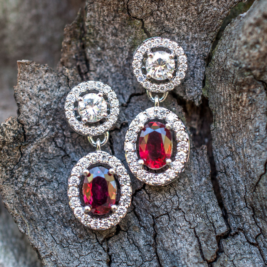 Natural Madagascar Ruby Earrings