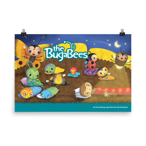 The BugaBees Camping Poster - Large