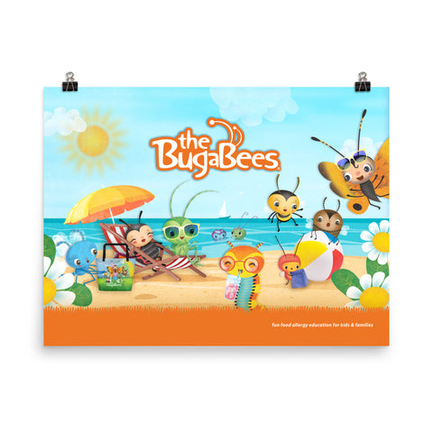 The BugaBees Beach Poster - Small