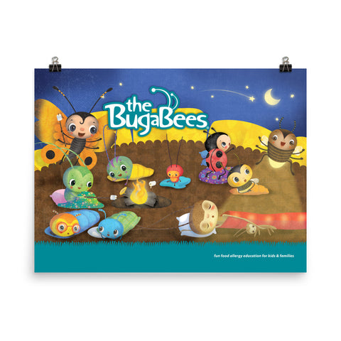 The BugaBees Camping Poster - Small