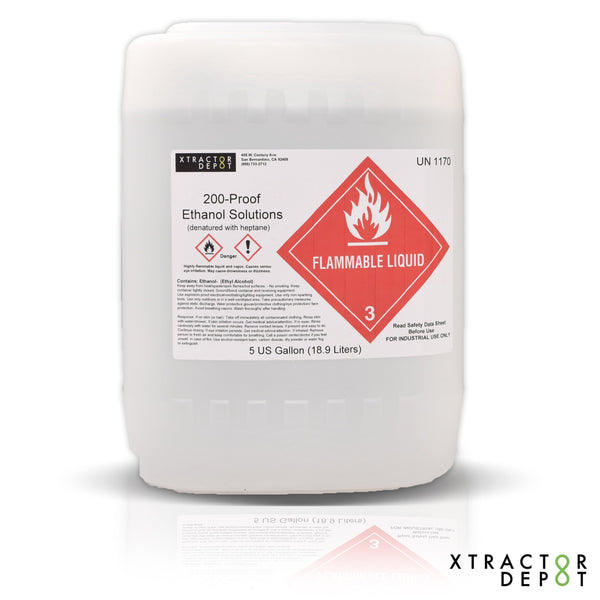 Denatured Ethanol with Heptane 5G - Xtractor Depot