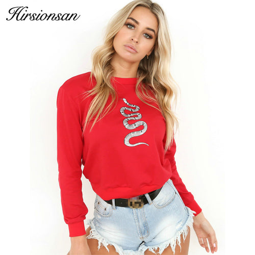 Hoodies Women 3D Hirsionsan Snake Printed - Funny Hoodies 2018 Autumn - Harajuku Long Sleeve Pullovers Ladies - Casual Tops
