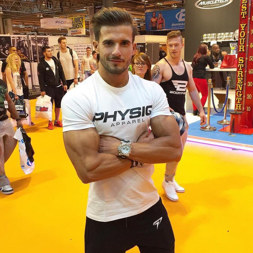 Brand Men's T-shirt Cotton Fitness Gyms - Fitness Bodybuilding Short Sleeve Shirts 2018 - New Summer Male Fashion - Tees Casual Clothing Tops