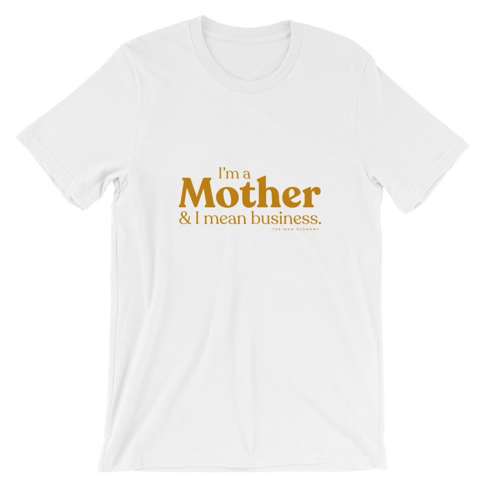 """& I Mean Business"" Tee (White/Marigold)"