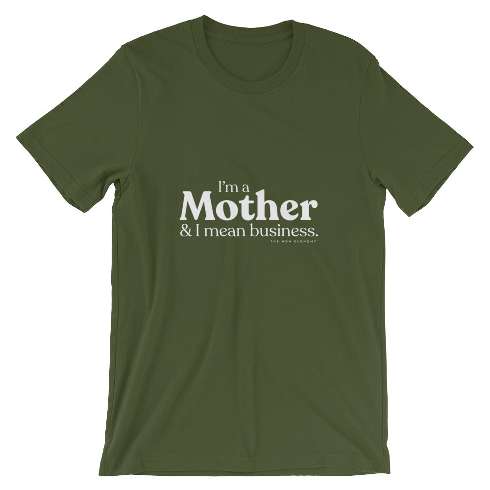 """& I Mean Business"" Tee (Marigold, Ash, Black, Green, Cream)"