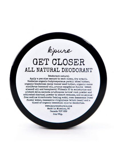 Get Closer Natural Deodorant - Vanilla/Lavender