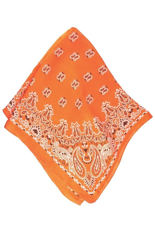 Vintage Print Neckerchief/Scarf {Orange}