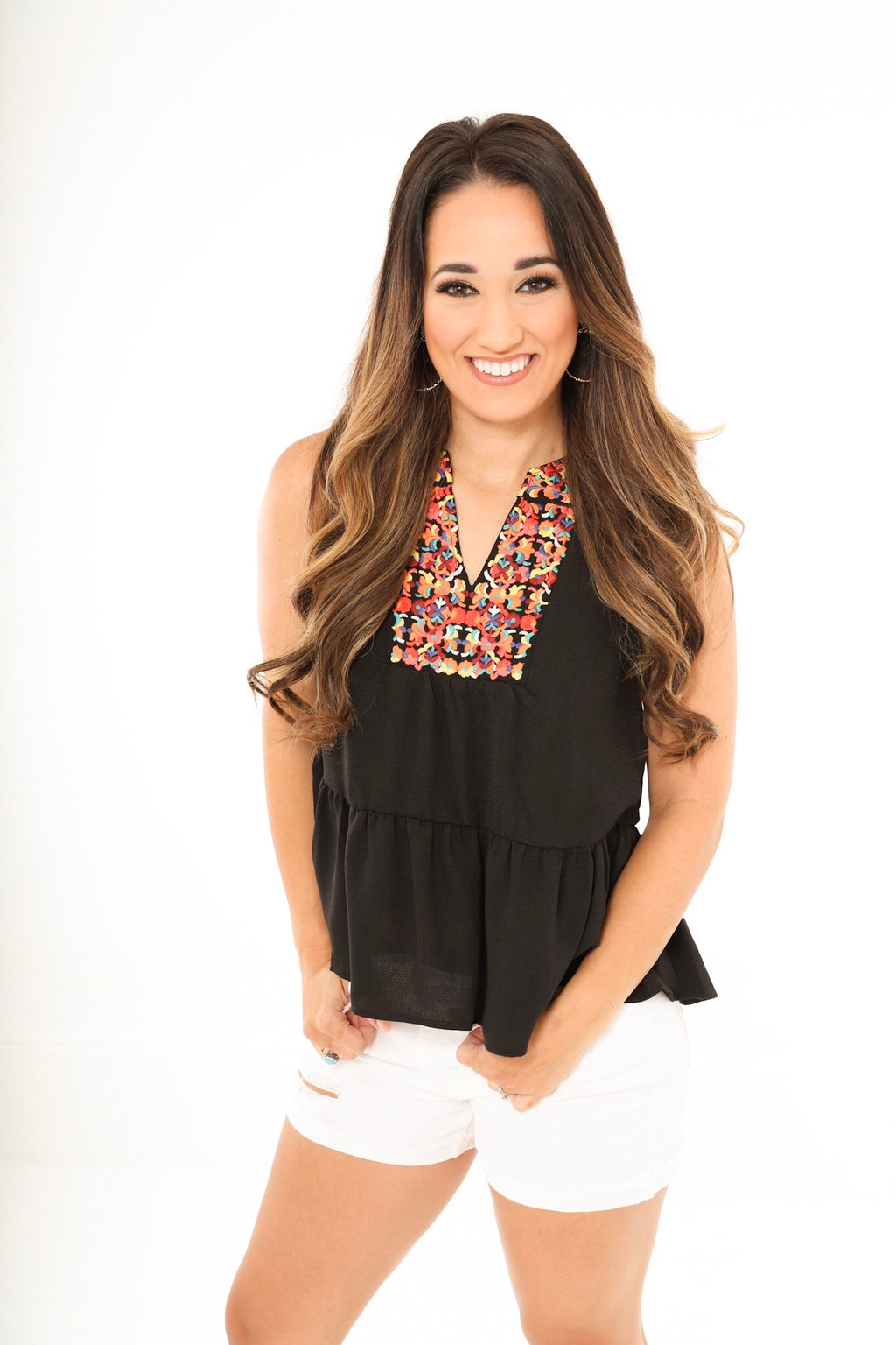 Darby Embroidered Top