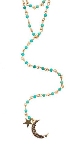 Moon & Star Turquoise Necklace