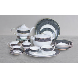 D'Rania 51 pc Crockery Set - 6 Persons