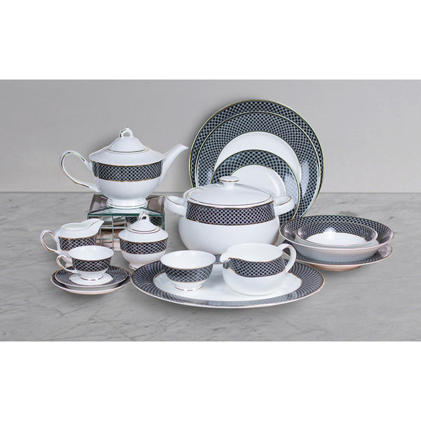 D'Rania 51 pc Crockery Set