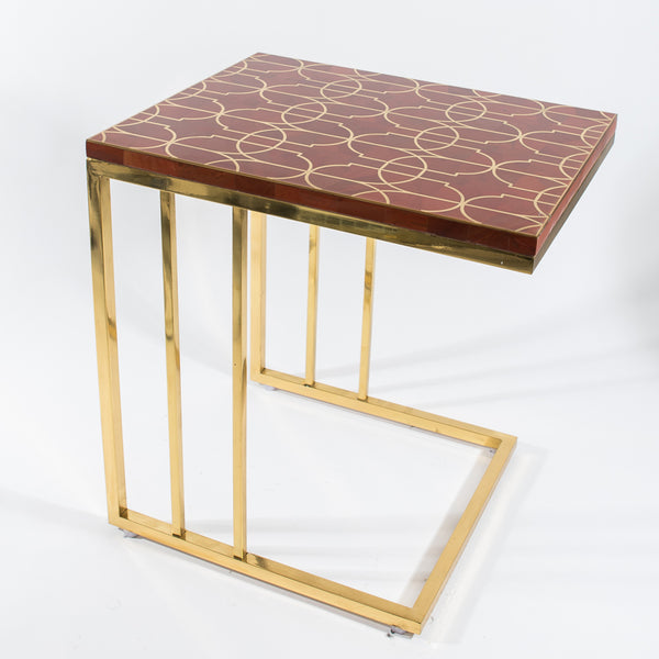 Jasper Peg Table w/ Gold Legs