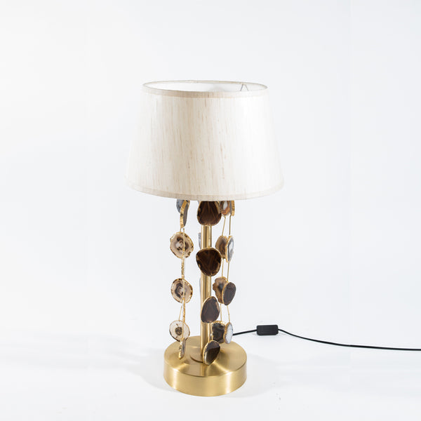 Lamp With Agate Drops