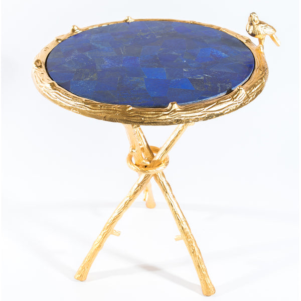 Lapis Lazuli w/ Gold Bird Round Table