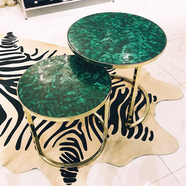 Malachite Nest of Tables