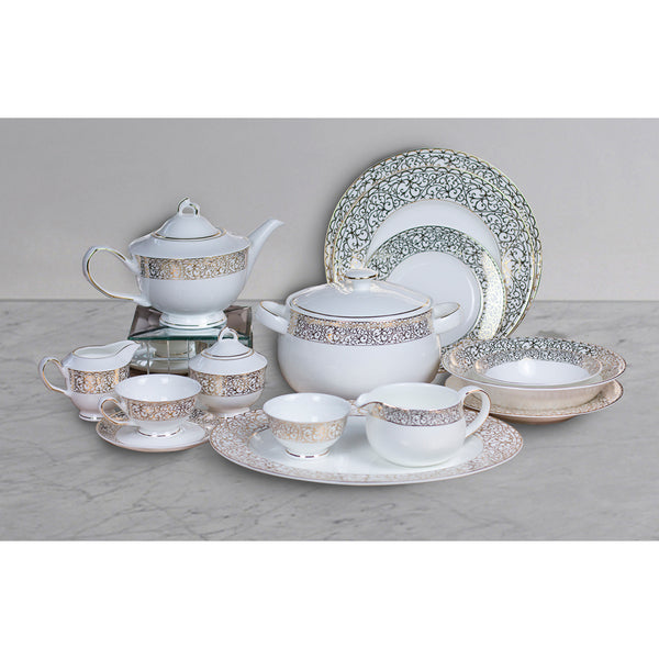 Sherezade gold 51 pc crockery set