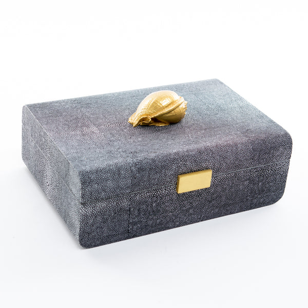 Faux Shagreen Jewelry Box