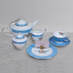 21 pc Tea Set - Baby Blue - 6 Persons