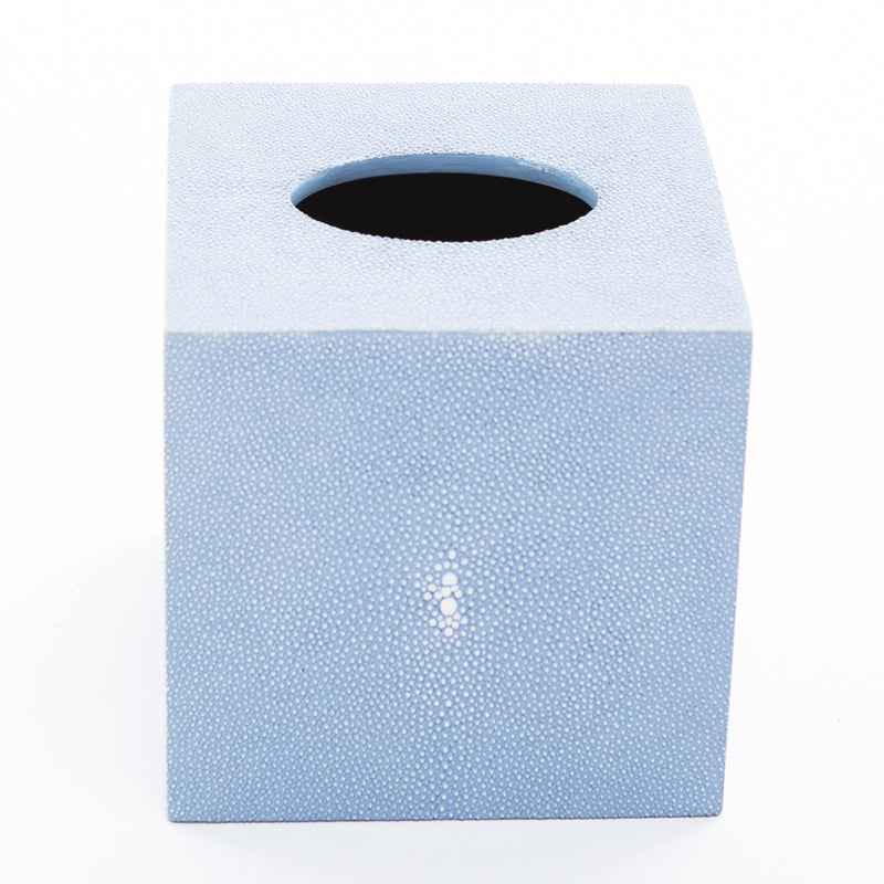 Faux Shagreen Tissue Box - Baby Blue