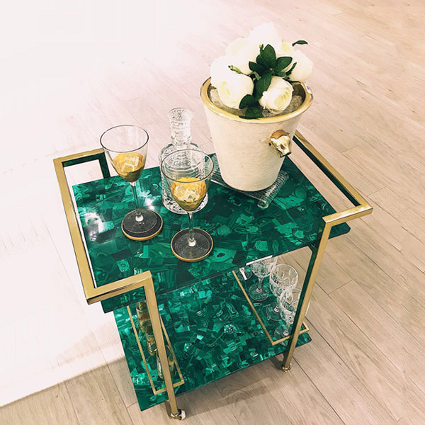 Malachite Serving Trolley