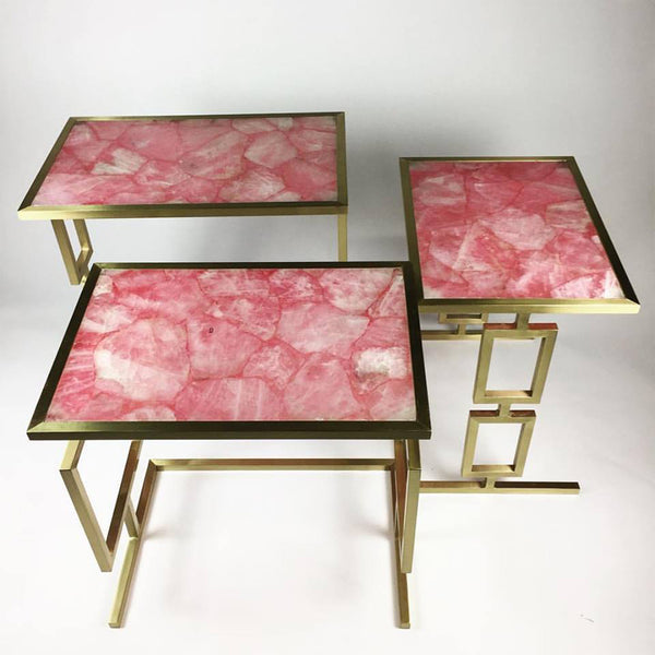 Pink Quartz Nesting Table
