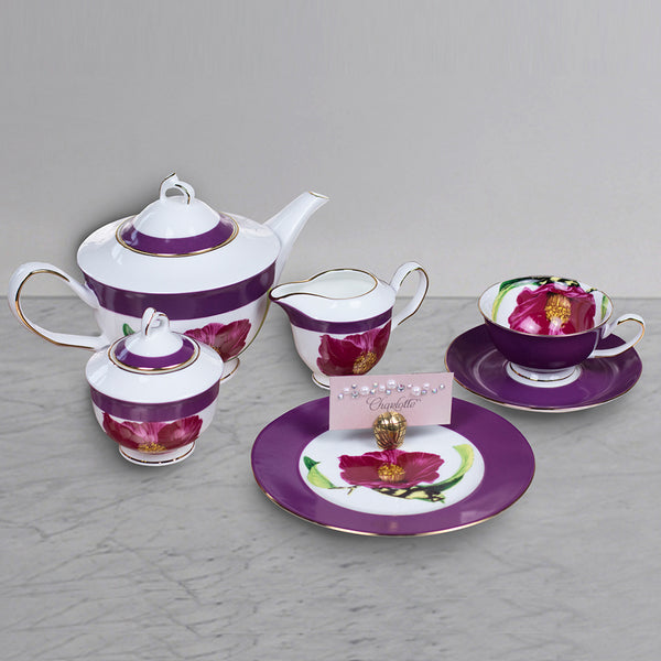 21 pc Tea Set - royal Purple  - 6 Person