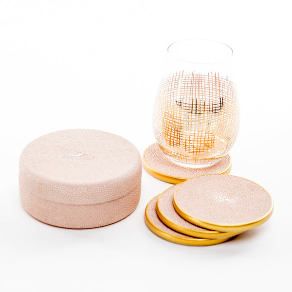 Faux Shagreen Coasters