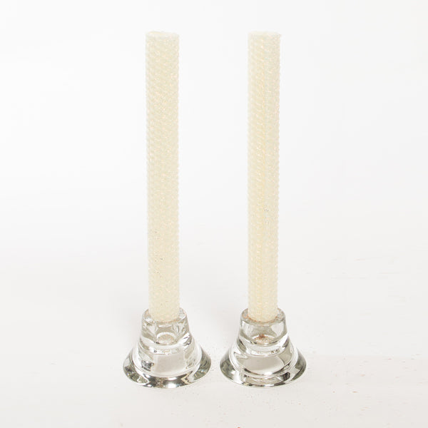 Glitter Candles - Ivory