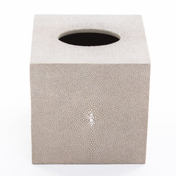 Faux Shagreen Tissue Box - Taupe