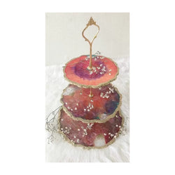 Resin 3 Tier Dessert Stand ORANGE