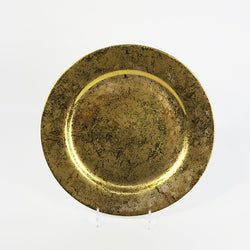 Round Plate  Donna (Patinated Gold)