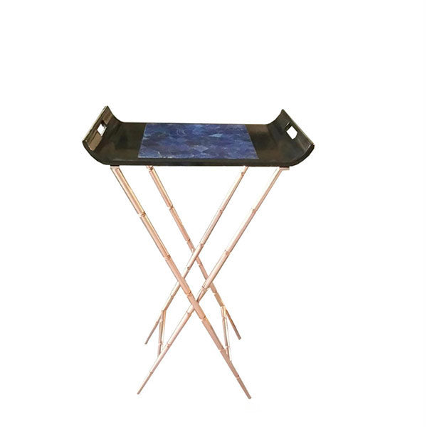 Lapis Lazuli Butler Tray w/bamboo stand