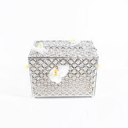 Silver Crystal Money Box  - Large
