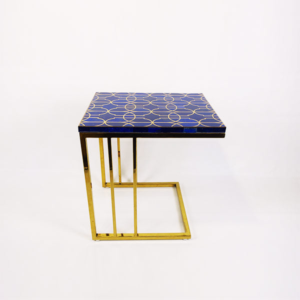 Lapiz Peg Table w/ gold legs