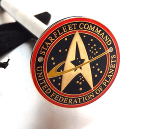 STAR TREK STARFLEET COMMAND PIN LE SHOOTER