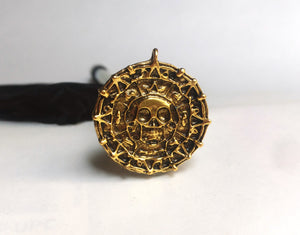 PIRATES POTC - AZTEC OLD GOLD SHOOTER 24K GOLD PLATED COIN