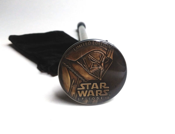 STAR WARS DARTH VADER BRONZE COIN SHOOTER ROD