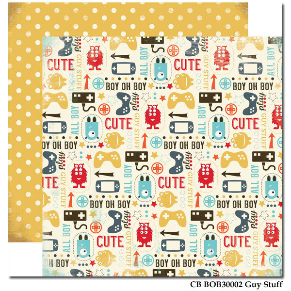Carta Bella - Boy Oh Boy 'Guy Stuff' Paper