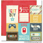 Carta Bella - Boy Oh Boy 'Journaling Cards' Paper