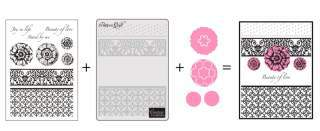 Couture Creations 3 in 1 Stamping, Embossing & Die Cutting set - Pattern Quilt