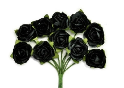Kaisercraft Mini Paper Blooms - Black