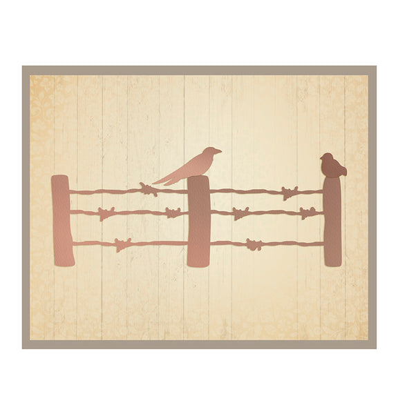 Ultimate Crafts Die - Australiana Collection - Barbed Wire Fence