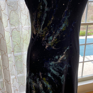 Space Painted Short Strappy Dress