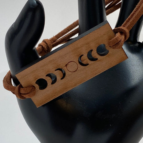 Solar Eclipse Wood Bracelet