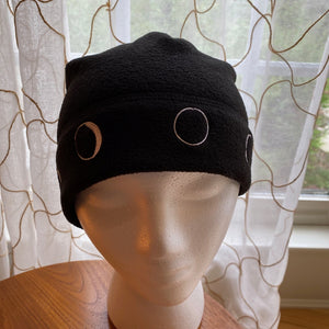 Phases of the Moon Fleece Beanie