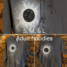 Load image into Gallery viewer, Eclipse Hand-Painted Gray Zip-Up Hooded Sweatshirt
