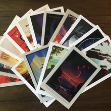 Load image into Gallery viewer, Out Of This World JPL Travel Postcard Set