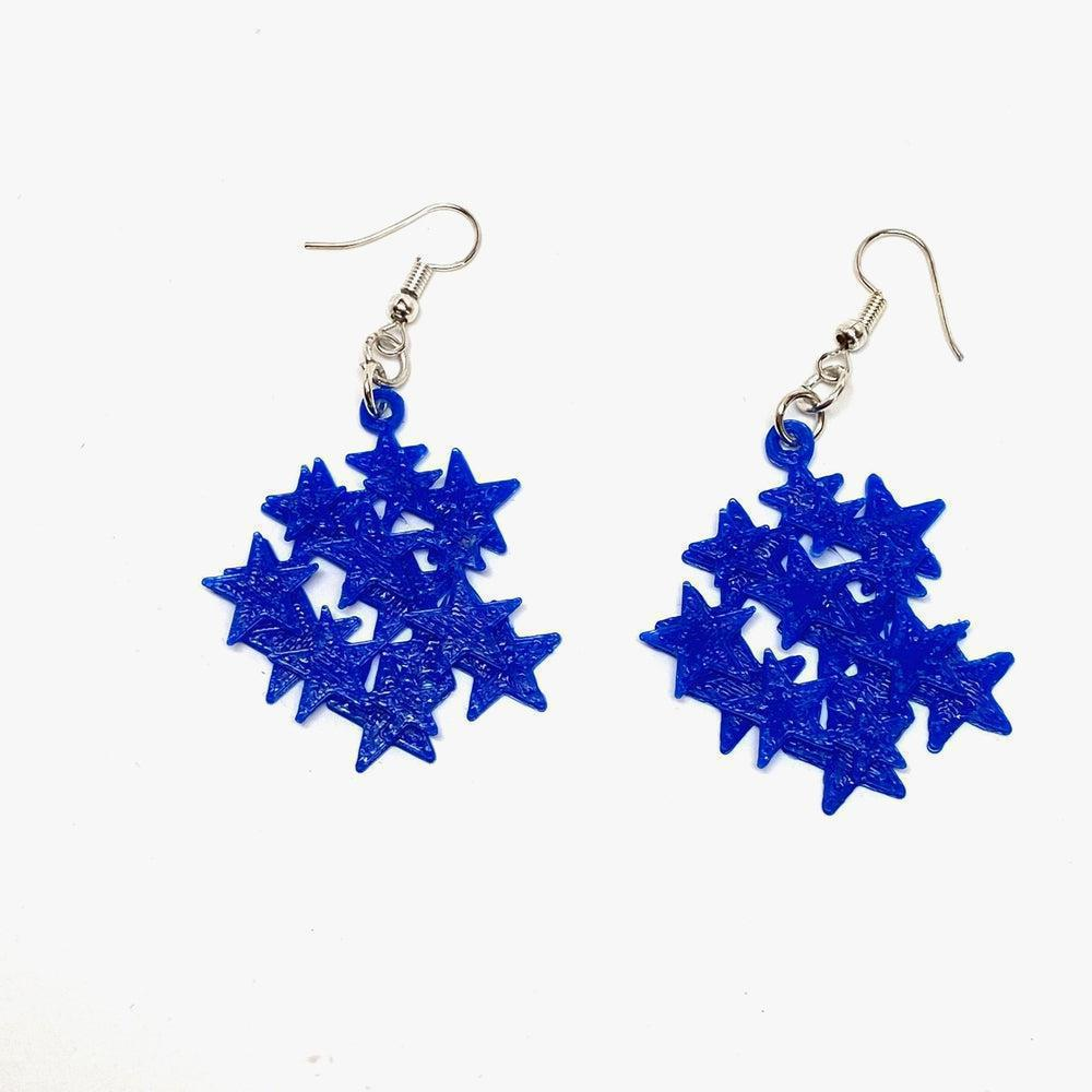 Starfield 3D Printed Plastic Earrings